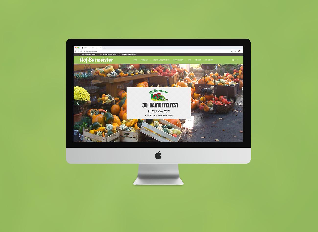 Hof Burmeister | Webseite & Shop